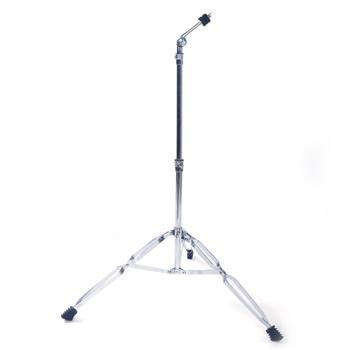 Glarry Straight Cymbal Stand Drum Hardware Percussion Mount Holder Gear Set Silver
