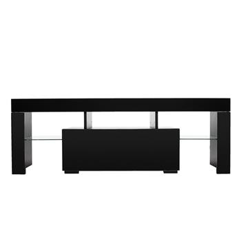 Elegant Household Decoration LED TV Cabinet with Single Drawer Black