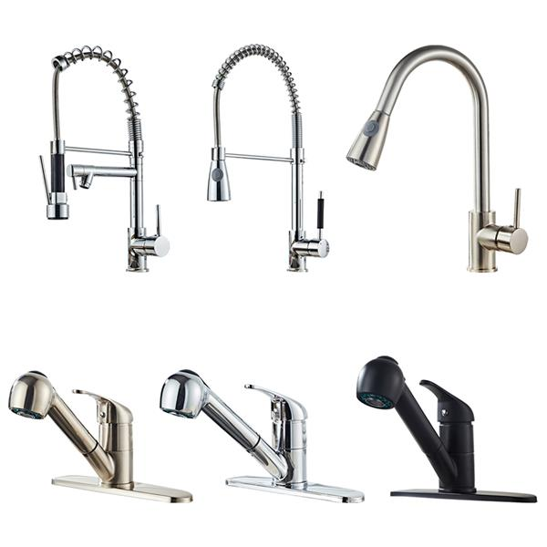 All Copper Kitchen Pull Chromeplate Faucet