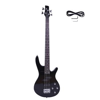Exquisite Stylish IB Bass with Power Line and Wrench Tool Black