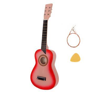 "25"" Acoustic Guitar   Pick   String Pink"