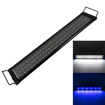 18W 78LED Full Spectrum Water Grass Lamp 23.6inch Black US Standard ZC001220 (Suitable For 23.6-31.49inch Long Aquarium)