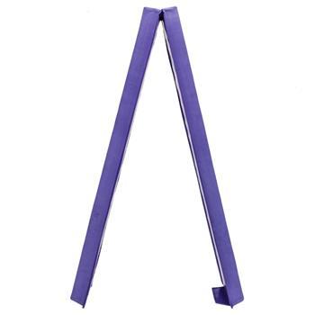 8 Feet Young Gymnasts Cheerleaders Training Folding Balance Beam Purple Plain Flannelette & Purple PVC