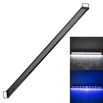 24W 156LED Full Spectrum Water Lamp 47.2inch Black US Standard ZC001222 (Suitable For 47.2-55.1inch Long Aquarium)