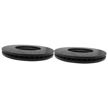 1 Set /2 BD126253 31375 Streaked Front Brake Disc Black