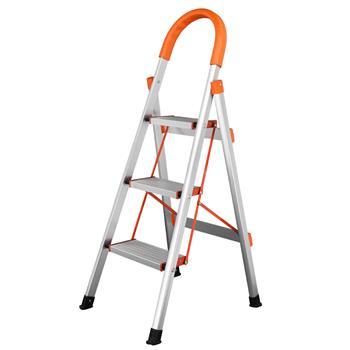 Non-slip 3-Step Aluminum Ladder Folding Platform Stool 330 lbs Load Capacity Orange (Do Not Sell on Amazon)