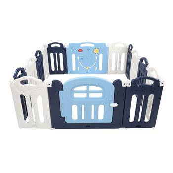 14 Panel Moon Foldable Playpen Baby Safety Play Yard Indoors or Outdoors