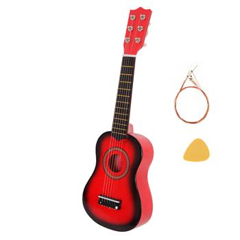 """21"""" Acoustic Guitar   Pick   String Red"""