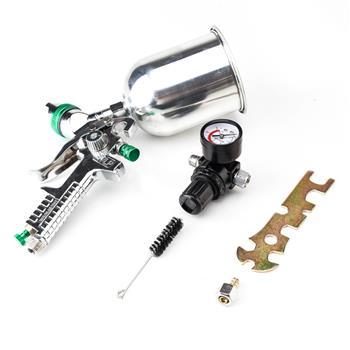 600CC 2.5mm HVLP Spray Gun Gravity Feed Gauge Flake Primer Nozzle