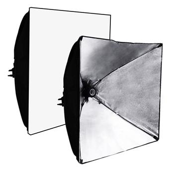 Kshioe 5070 Studio Light Softbox Black & Silver US Plug (Do Not Sell on Amazon)