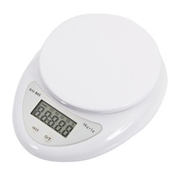 5Kg/1g Kitchen Mail LCD Digital Scale White