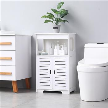 Double Door Double Compartment 80 High Storage Cabinet Pvc (50x30x80)cm