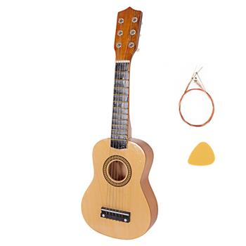 "21"" Acoustic Guitar   Pick   String Wood Color"