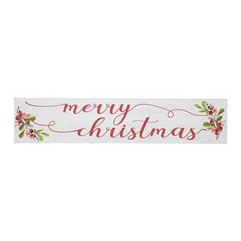 Artisasset a Rectangular Merry Christmas Wooden Wall Hanging