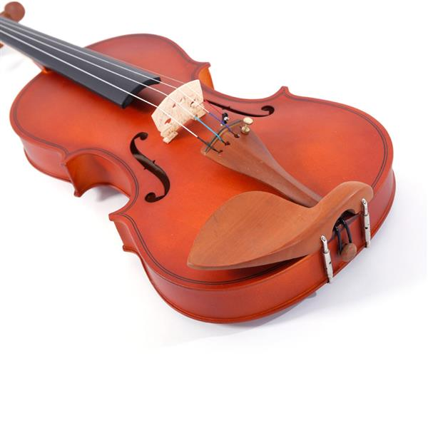 [Do Not Sell on Amazon]Glarry GV101 4/4 Acoustic Matt Violin Case Bow Rosin Strings Shoulder Rest Tuner Natural