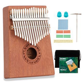 [Do Not Sell on Amazon]17 Keys Kalimba Thumb Piano Mahogany wood for Kids Adult Beginners Natural