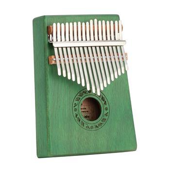 [Do Not Sell on Amazon]17 Keys Kalimba Thumb Piano Mahogany wood for Kids Adult Beginners Green