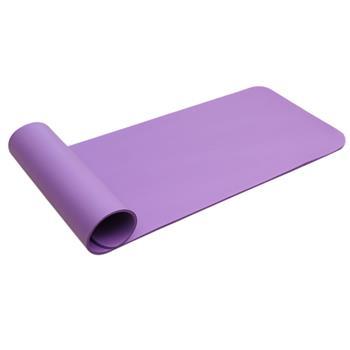 8mm Thickened NBR Pure Color Anti-skid Yoga Mat 183x61x0.8cm Purple