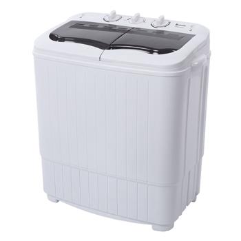 ZOKOP XPB35-ZK35 14.3(7.7 6.6)lbs Semi-automatic Gray Cover Washing Machine