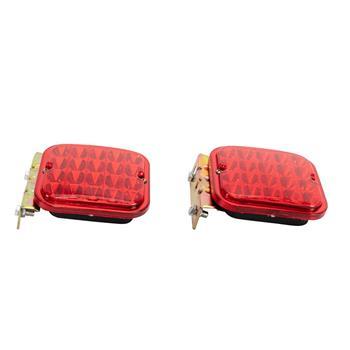 """2x Red 4.5"""" Trailer Tail Light Kit For Brake RV Boat Truck Turn Signal Led Light"""