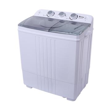 ZOKOP XPB45-ZK45 16.5(9.9 6.6)lb Semi-automatic Cover Washing Machine Gray