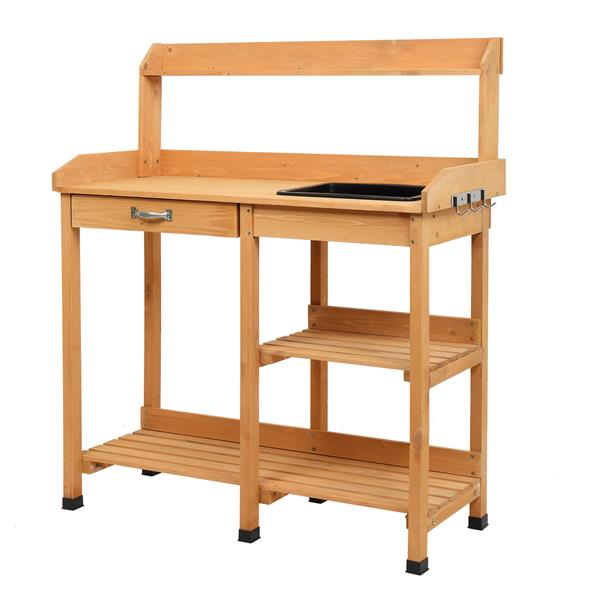 Garden Workbench With Drawers And Sink