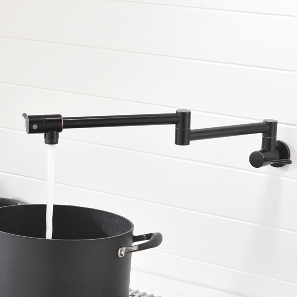 Brass Foldable Kitchen Faucet Rotatable Tap Only for Cold Water ORB