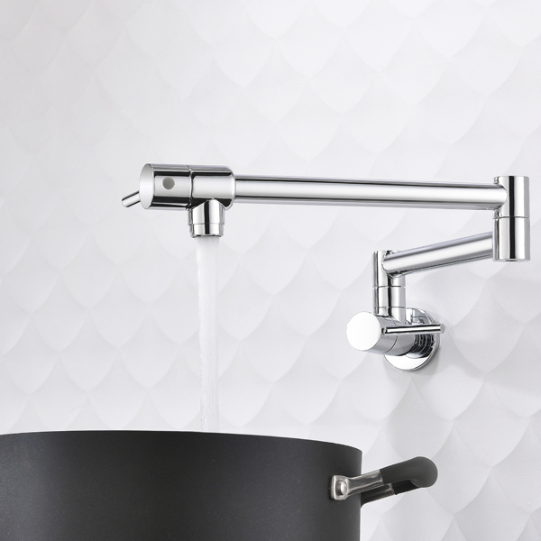 Brass Foldable Kitchen Faucet Rotatable Tap Only for Cold Water Chrome