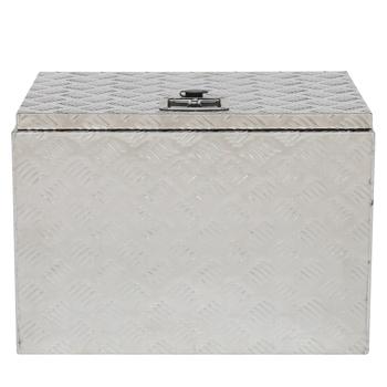 "24"" Truck Bed Underbody Aluminum Tool Box with Keys 5 Tendon Pattern Aluminum Plate"