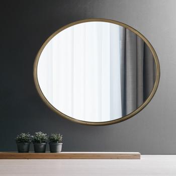 Artisasset Antique Gold metal circular frame indoor iron wall mounted plane mirror