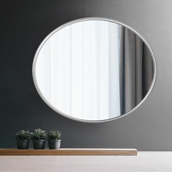 Artisasset Silver metal circular frame indoor iron wall mounted plane mirror
