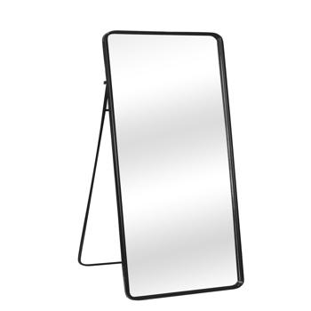 Artisasset Modern Black Full Length Dressing Floor Mirror with Free Stand