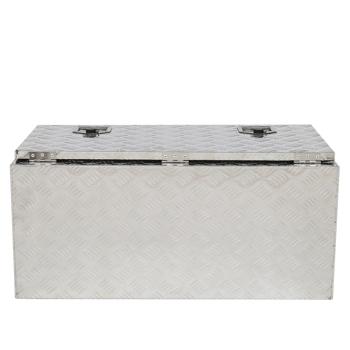 "36"" Truck Bed Underbody Aluminum Tool Box with Keys 5 Tendon Pattern Aluminum Plate"