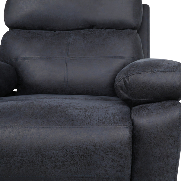 Recliner padded recliner-Seating Office Sofa Recliner-manual bedroom and living room reclining sofa-Blue