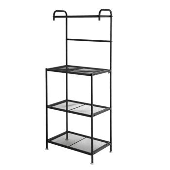 4-Tier Wire Mesh Laminate Kitchen Shelf