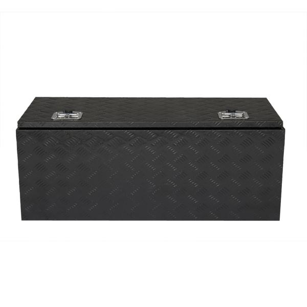 "42"" Aluminum Under Body Toolbox 5 Bar Tread Black"