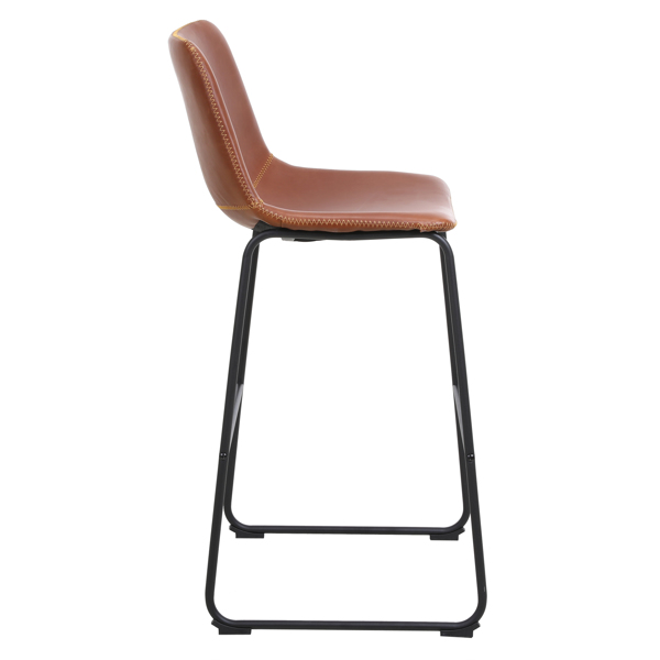 FCH 2pcs Wrought Iron Bar Stool Up to 47*35*100cm Bronze Color N101