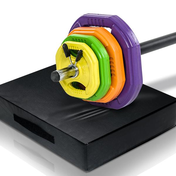 Exercise Mat Yoga Gymnastics Aerobics Workout Fitness Floor Mats Black