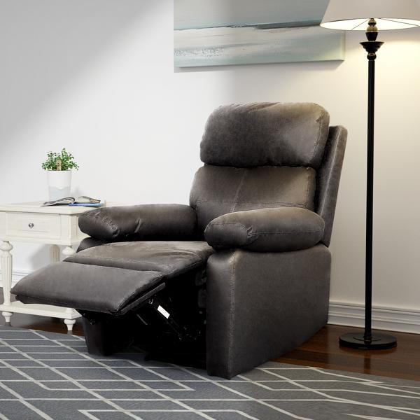 Recliner padded recliner-Seating Office Sofa Recliner-manual bedroom and living room reclining sofa-Black