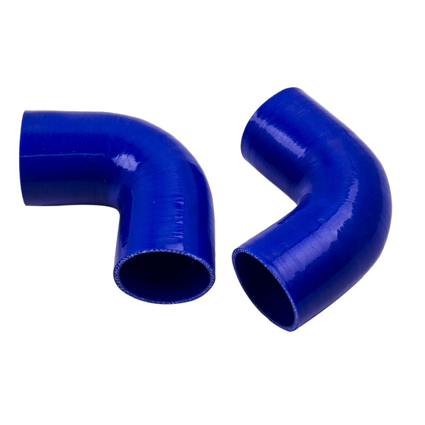 """2.5"""" Universal Aluminum Intercooler Turbo Piping Pipe Kit+ Silicone Hose + Clamps"""