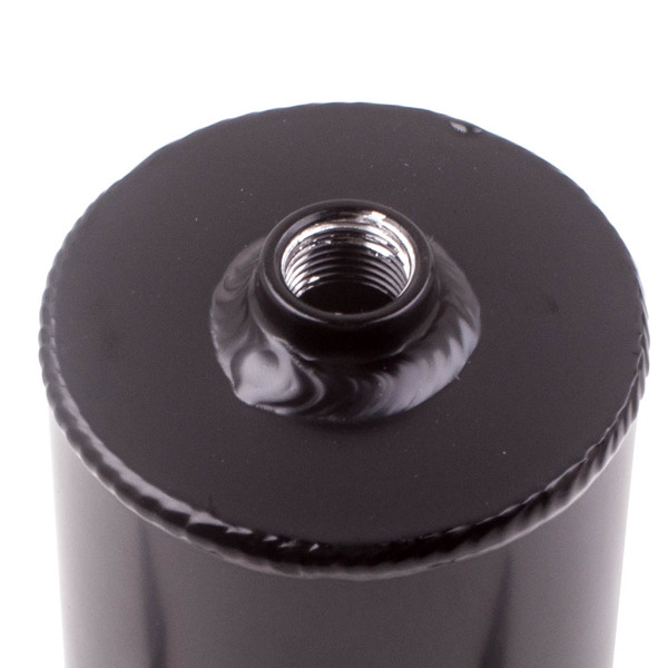 Baffled Engine Oil Catch Can 2x AN10 Twin Port Breather Filter Black 0.75L 750ml