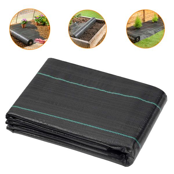 2*10M Polypropylene Weeding Cloth Black