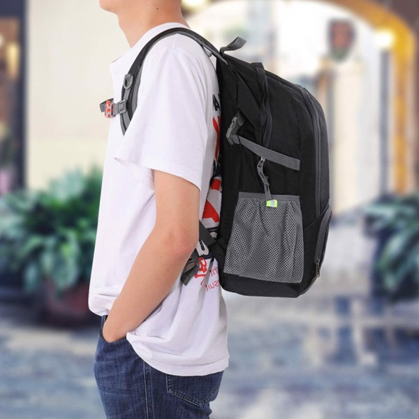 Folding Ultralight Backpack, 35l 420d Nylon Portable Laptop Backpack Travel Gifts, Suitable for Cycling, Hiking and Camping