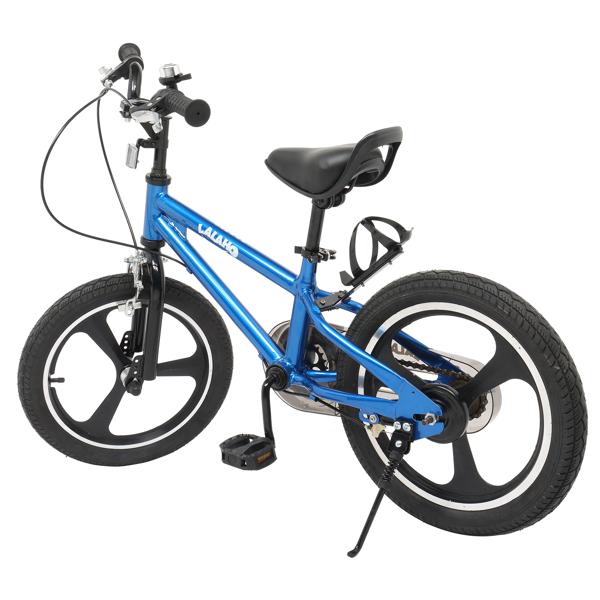 Kids Bike with Training Wheels , Kids Bicycle with Handbrake and Rear Brake Kickstand Child's Bike, 16 Inch, Blue
