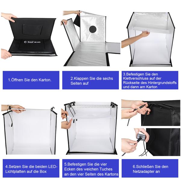 "kshioe 40cm 16"" x 16"" Desktop Photo Studio Adjustable Folding Portable"