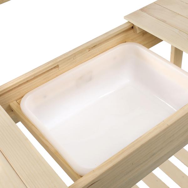 Wooden Garden Workbench Sliding Table Top