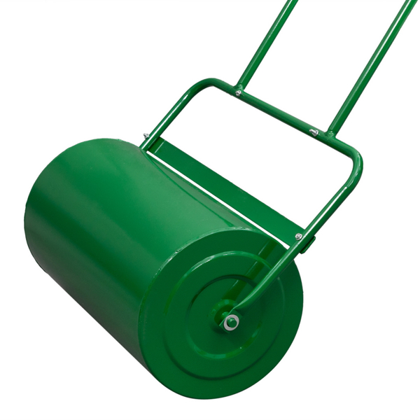 Oshion 24in Lawn Roller Iron Cylindrical Garden North America Black