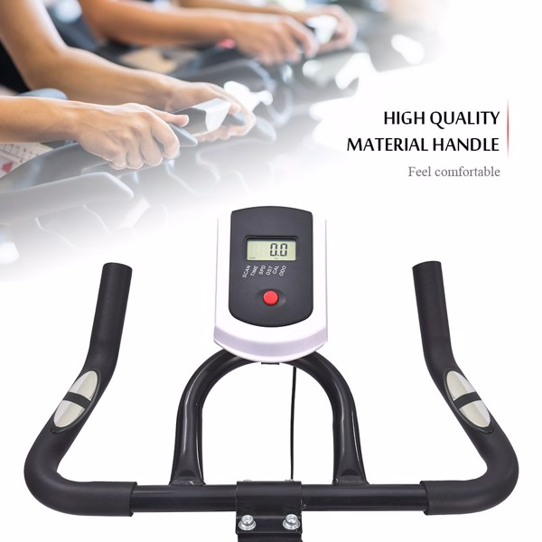 Stationary Exercise Bike Fitness Cycling Bicycle Cardio Home Sport Gym Training Black