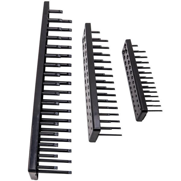Set of 6pcs 1/4'' 3/8'' 1/2'' Metric SAE for Socket Tray Rack Holder Storage Organizer