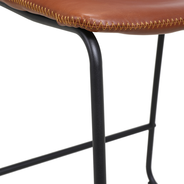 FCH 2pcs Iron Bar Stool Medium Height 47*35*87cm Bronze N101